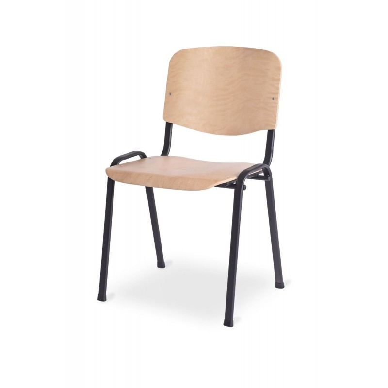 Krzesło konferencyjne ISO WOOD BL