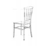 Krzesło ślubne CHIAVARI NAPOLEON transparentne