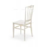 Krzesło ślubne CHIAVARI NAPOLEON perłowe