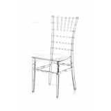 Krzesło ślubne CHIAVARI TIFFANY transparentne