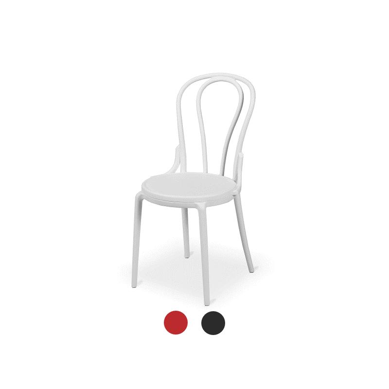 Krzesło kawiarniane MONET białe