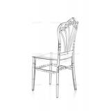 Krzesło ślubne CHIAVARI LORD transparentne