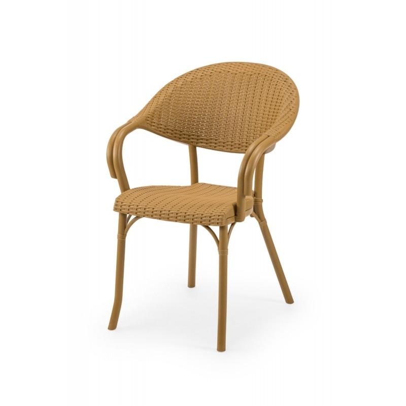 Krzesło do ogródków piwnych MARCO beżowe