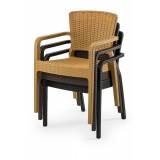 Krzesło do ogródków piwnych VITO kremowe