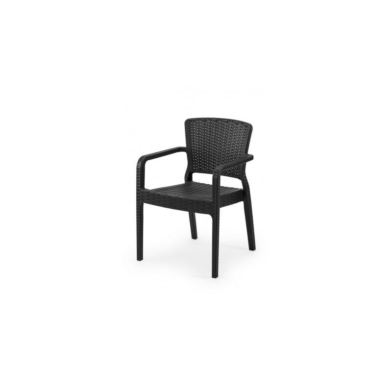 Krzesło do ogródków piwnych VITO czarne