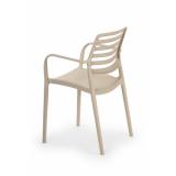 Krzesło do ogródków piwnych LUCA beżowe