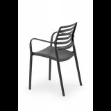 Krzesło do ogródków piwnych LUCA antracytowe nergra