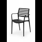 Krzesło do ogródków piwnych LUCA czarne
