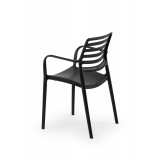 Krzesło do ogródków piwnych LUCA antracyt negra