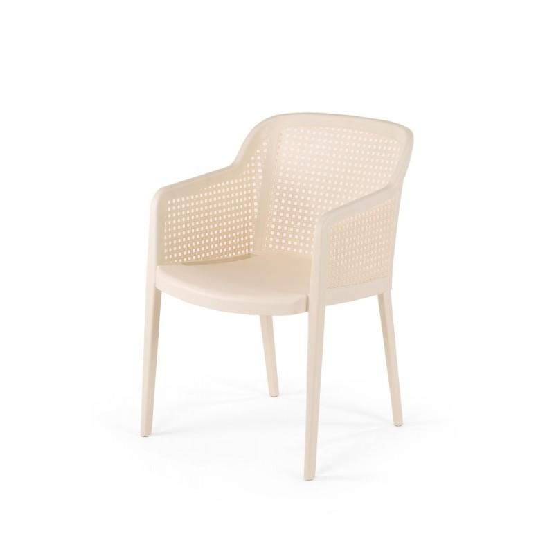 Krzesło do ogródków piwnych CARLO kremowe