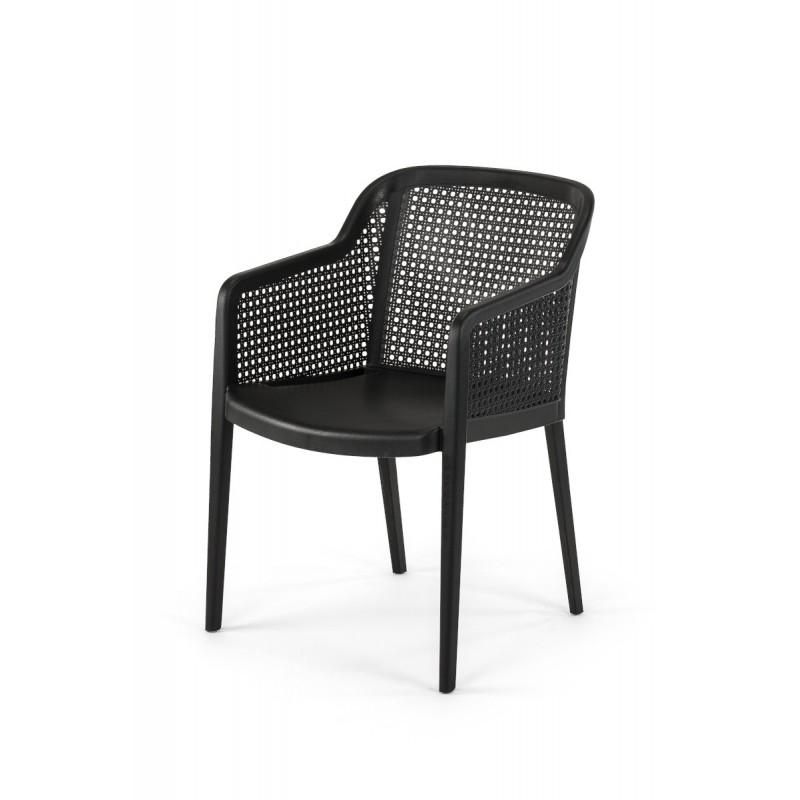 Krzesło do ogródków piwnych CARLO czarne