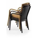 Krzesło do ogródków piwnych ANDREA brązowe