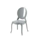 Krzesło dla pary młodej MEDALION srebrne