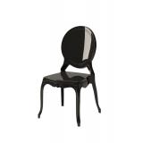 Krzesło dla pary młodej MEDALION czarne