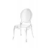 Krzesło dla pary młodej MEDALION transparentne