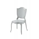 Krzesło dla pary młodej AMOR srebrne