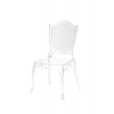 Krzesło dla pary młodej AMOR transparentne