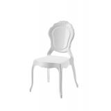 Krzesło dla pary młodej LUNA białe
