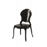 Krzesło dla pary młodej LUNA czarne
