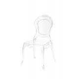 Krzesło dla pary młodej LUNA transparentne