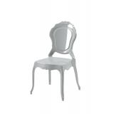 Krzesło dla pary młodej LUNA srebrne