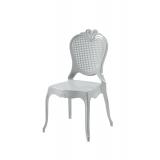 Krzesło dla pary młodej ZEUS srebrne