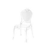 Krzesło dla pary młodej ZEUS transparentne