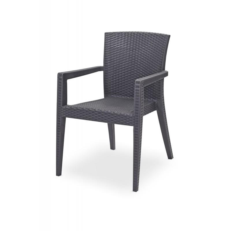 Krzesło do ogródków piwnych MARIO antracyt