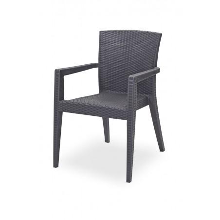 Krzesło do ogródków piwnych MARIO antracytowe
