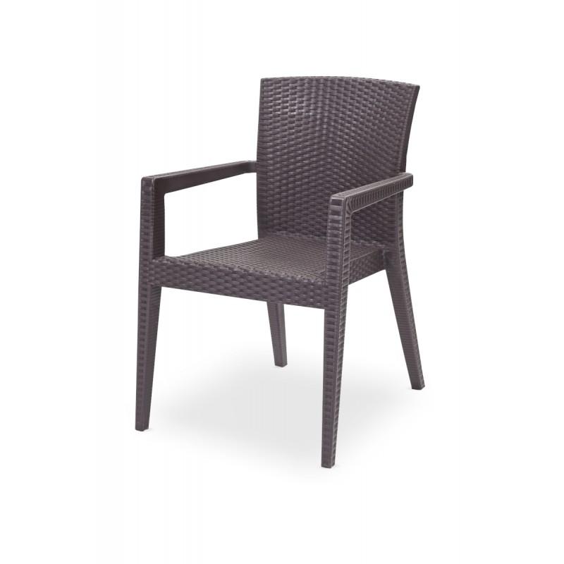 Krzesło do ogródków piwnych MARIO brązowe