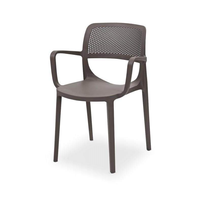 Krzesło do ogródków piwnych NICOLA piaskowo-szare
