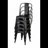 Krzesło loftowe Paris inspirowane TOLIX czarne matowe