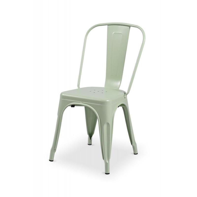 Krzesło loftowe Paris inspirowane TOLIX seledynowe matowe